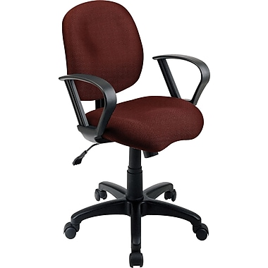 Office Star WorkSmart™ Fabric Task Chair with Contemporary Loop Arm, Burgundy