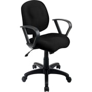 Office Star SC59-231 Work Smart Fabric Mid-Back Task Chair with Fixed Arms, Black