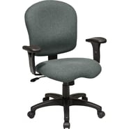 Office Star WorkSmart™ Fabric Task Chair with Saddle Seat and Adjustable Soft Padded Arm, Gray