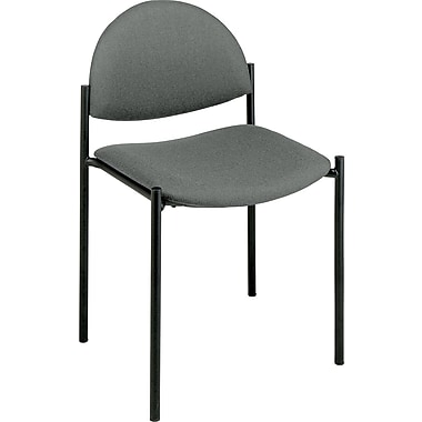 Office Star WorkSmart™ Fabric Value Plus Armless Chair, Gray