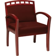 Office Star WorkSmart™ Fabric Deluxe Cherry Finish Guest Chair, Burgundy