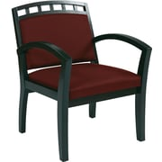 Office Star WorkSmart™ Fabric Deluxe Espresso Finish Guest Chair, Burgundy