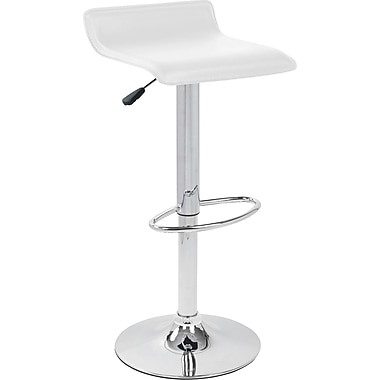 Lumisource Ale® Leatherette Bar Stool, White