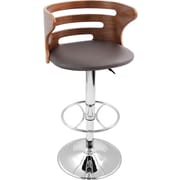 Lumisource Cosi Bent Wood Bar Stool, Walnut