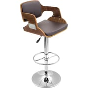 Lumisource Fiore Bent Wood Bar Stool, Walnut