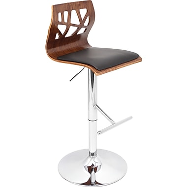 Lumisource Folia Bent Wood Bar Stool, Black
