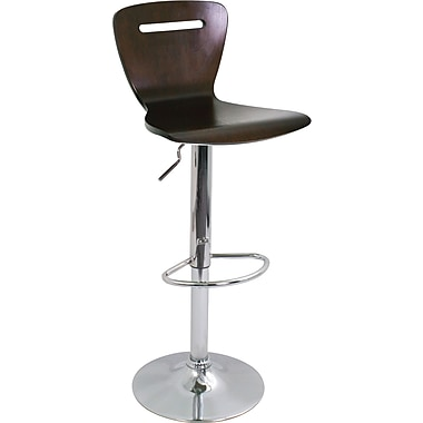 LumiSource H2 Bent 41'' Transitional Adjustable Height Bar Stool, Espresso (BS-TW-H2ESP)