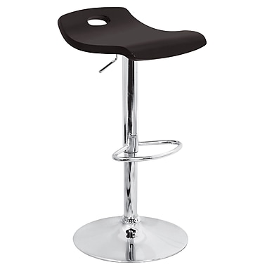 Lumisource Surf Wood Bar Stool, Black