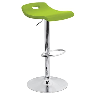Lumisource Surf Wood Bar Stool, Green