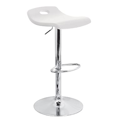 Lumisource Surf Wood Bar Stool, White
