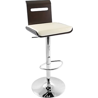 Lumisource Viera Bent Wood Bar Stool, Wenge