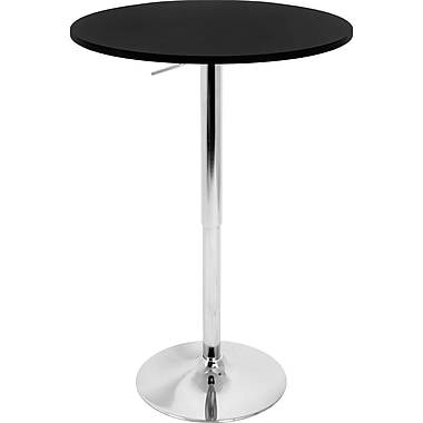 Lumisource 26in. - 41in. x 23 1/2in. Wood Adjustable Bar Table, Black
