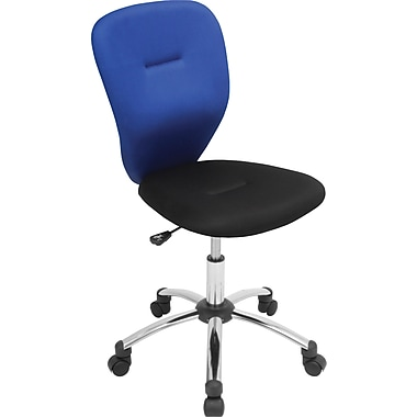 Lumisource Padded Mesh Mid Back Associate Office Chair, Blue