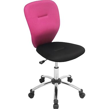 Lumisource Padded Mesh Mid Back Associate Office Chair, Pink