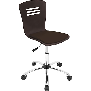 Lumisource Cordova Leatherette Mid Back Office Chair, Wenge