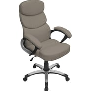 Lumisource Doctorate Leatherette High Back Office Chair, Gray