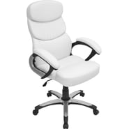 Lumisource Doctorate Leatherette High Back Office Chair, White