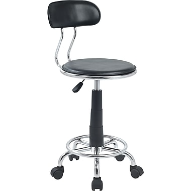 Lumisource Leather Mid Back Swift Office Chair, Black