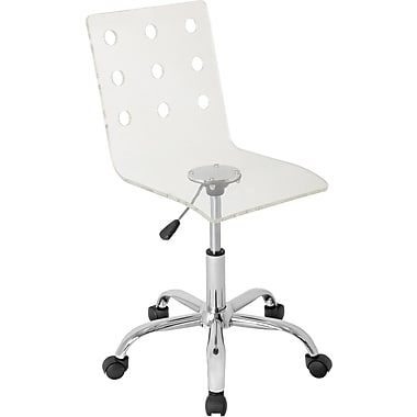 Lumisource Acrylic Mid Back Swiss Office Chair, Clear