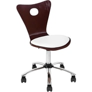 Lumisource Valencia Foam Mid Back Office Chair, Wenge