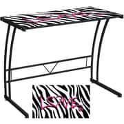 LumiSource Expression Zebra Love Sigma Desk, Black/White (OFD-TM-BITSGL Z)