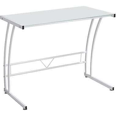 LumiSource Sigma Standard Workstation Desk, White (OFD-TM-BITSGL W)