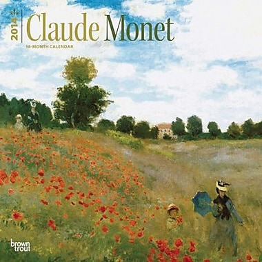 2014 Claude Monet Wall Calendar, 12in. x 12in.