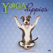 2014 Yoga Puppies Mini Wall Calendar, 7 x 7