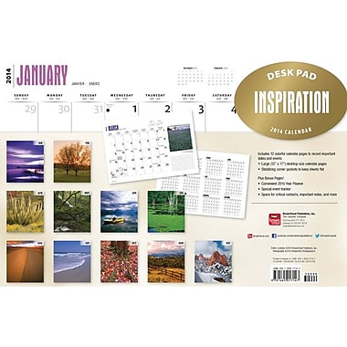 2014 Inspiration Desk Pad, 12in. x 17in.