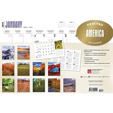 2014 America Desk Pad, 12in. x 17in.