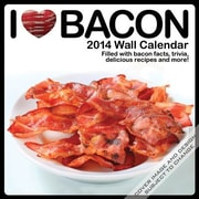 2014 I Love Bacon Wall Calendar, 12 x 12