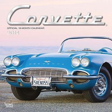 2014 Corvette Wall Calendar, 12in. x 12in.