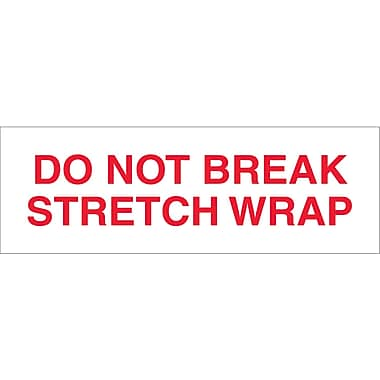 Tape Logic™ 3in. x 110 yds. Pre Printed in.Do Not Break Stretch Wrapin. Carton Sealing Tape, Each, 24/Case
