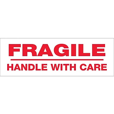 Tape Logic™ 3in. x 110 yds. Pre Printed in.Fragile Handle With Carein. Carton Sealing Tape, Each