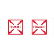 "Tape Logic™ 2"" x 55 yds. Pre Printed ""Fragile (Box)"" Carton Sealing Tape, 6/Pack"