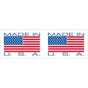 "Tape Logic® Pre-Printed Carton Sealing Tape, ""Made In USA"", 2"" x 110 yds., Red/White/Blue, 6/Case"