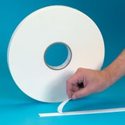 "Tape Logic™ 3/4"" x 72 yds. Double Coated Foam Tape, White, 16/Case"