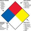"""Tape Logic™ Health Hazard Fire Hazard Specific Hazard Reactivity Regulated Label, 2"""" x 2"""""""