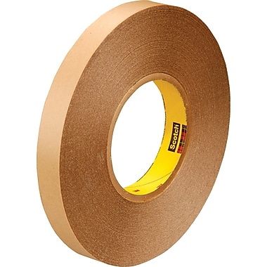 3M™ 1in. x 72 yds. Double Coated Film Tape 9425, Clear, 2/Pack