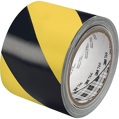 3M™ 3in. x 36 yds. Striped Vinyl Tape 5700, Black/Yellow, 2/Pack