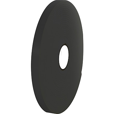 Tape Logic™ 1in. x 36 yds. Double Coated Foam Tape, Black, 16/Case
