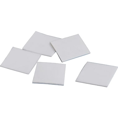 Tape Logic™ 1/2in. x 1/2in. x 1/16in. Double Coated Foam Square, White, Each