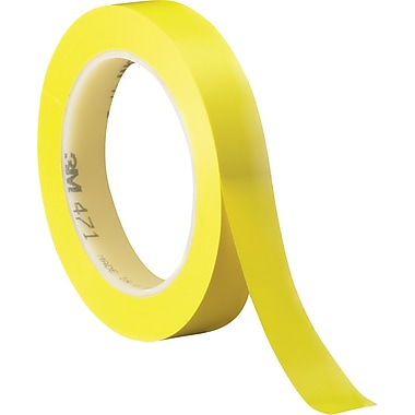 3M™ 3/4in. x 36 yds. Solid Vinyl Safety Tape 471, Yellow, 3/Pack