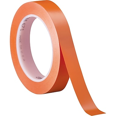 3M™ 3/4in. x 36 yds. Solid Vinyl Safety Tape 471, Orange, 3/Pack