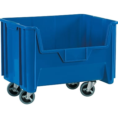 BOX 19 7/8in. x 15 1/4in. x 12 7/16in. Mobile Giant Stackable Bin, Blue