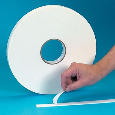 Tape Logic™ 1in. x 36 yds. Double Coated Foam Tape, White, 12/Case