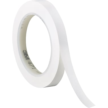 3M™ 1/4in. x 36 yds. Solid Vinyl Safety Tape 471, White, 3/Pack