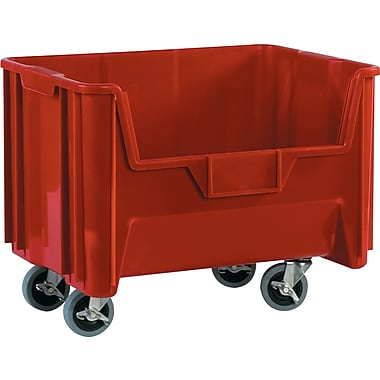 BOX 19 7/8in. x 15 1/4in. x 12 7/16in. Mobile Giant Stackable Bin, Red