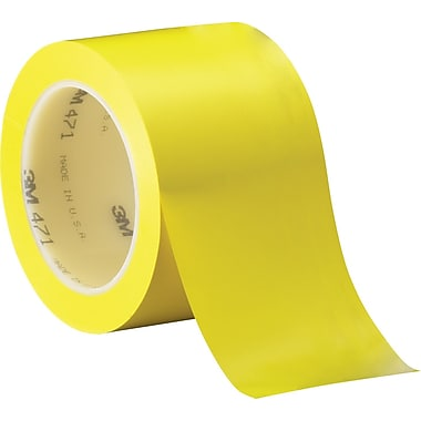 3M™ 3in. x 36 yds. Solid Vinyl Safety Tape 471, Yellow, 3/Pack