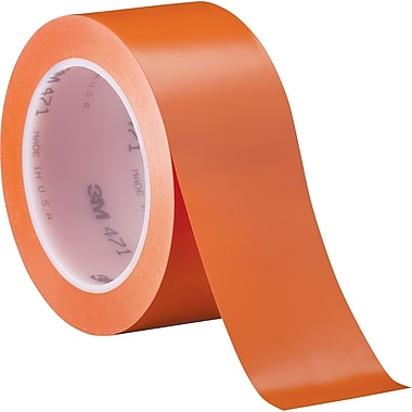 3M™ 2in. x 36 yds. Solid Vinyl Safety Tape 471, Orange, 3/Pack